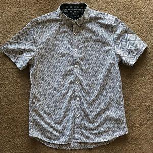 7 Diamonds Premium Geometric Print Shirt